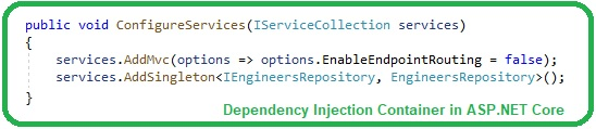 Dependency Injection in ASP.NET Core, Dependency Injection in ASP NET Core, Dependency Injection ASP.NET Core, ASP.NET Core Dependency Injection