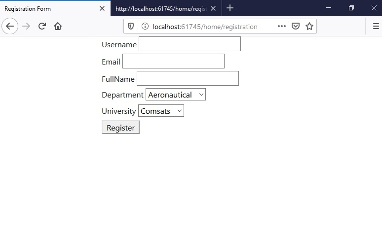 Create a Registration Form in ASP.NET Core, Registration Form in ASP.NET Core, sign up form in asp.net core, asp.net core sign up form, sign up form asp.net core, form tag helpers in asp.net core