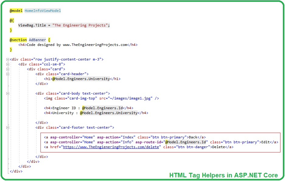 HTML Tag Helpers in ASP.NET Core, HTML Tag Helpers in ASP NET Core, Tag Helpers in ASP.NET Core