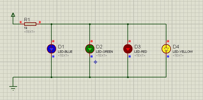 Simulate First Electronics Project in Proteus ISIS, electronics circuit in proteus, circuit designing in proteus, led project in proteus