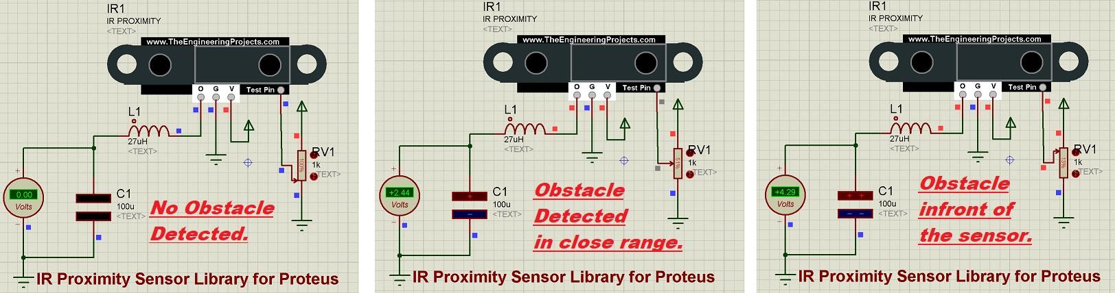 IR Proximity Sensor Library for Proteus, IR Proximity sensor, proteus simulation of ir proximity, ir ini proteus, proteus ir sensor, proximity sensor proteus