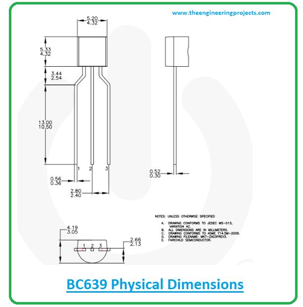 Introduction to BC639, bc639 pinout, bc639 power ratings, bc630 applications