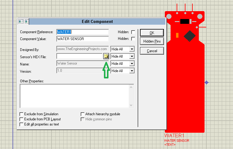Water Sensor Library For Proteus, Proteus library download water sensor, water in proteus, water sensor proteus simulation, proteus simulation of water sensor, water sensor proteus library