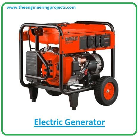 introduction to electric generators, generators working principle, applications of generators, types of generators