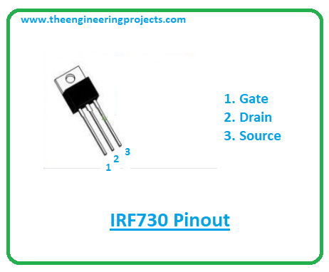 Introduction to irf730, irf730 pinout, irf730 power ratings, irf730 applications