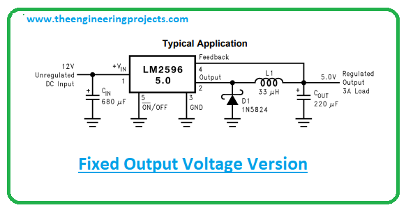 Introduction to LM2596, LM2596 pinout, LM2596 power ratings, LM2596 applications