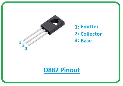introduction to d882, d882 pinout, d882 power ratings, d882 applications