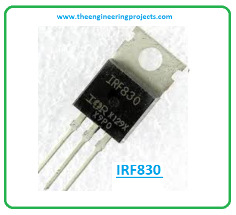 Introduction to irf830, irf830 pinout, irf830 power ratings, irf830 applications