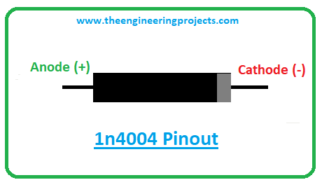 Introduction to 1n4004, 1n4004 pinout, 1n4004 power ratings, 1n4004 applications
