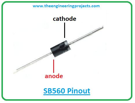 Introduction to sb560, sb560 pinout, sb560 power ratings, sb560 applications