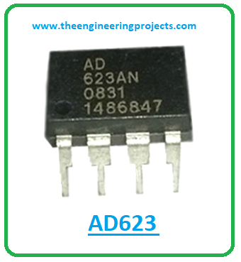 Introduction to ad623, ad623 pinout, ad623 power ratings, ad623 applications