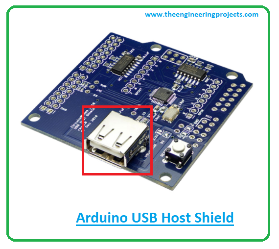 introduction to arduino USB host shield, device classes of arduino USB host shield, applications of arduino USB host shield