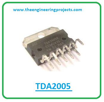 Introduction to tda2005, tda2005 pinout, tda2005 power ratings, tda2005 applications