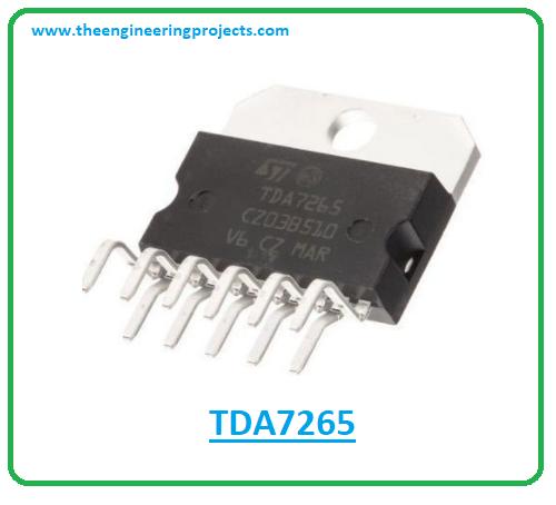 Introduction to tda7265, tda7265 pinout, tda7265 power ratings, tda7265 applications
