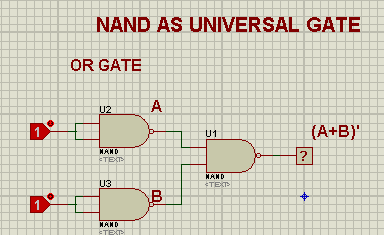 Universal Gates, universal gates in Proteus, NAND Gate, NOR Gate, Proteus Implementation of gates, Logic Gates.