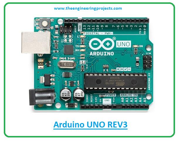 Introduction to arduino uno rev3, arduino uno rev3 pinout, arduino uno rev3 features, arduino uno rev3 applications