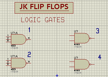 Flip Flops, JK Flip Flops, JK Flip Flop in Proteus, JK Flip Flop with gates, JK Flip flop with ic, JK Flip Flop in Proteus, JK Flip Flop Proteus simulation.