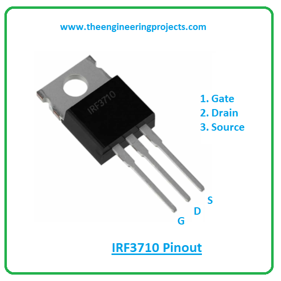 Introduction to irf3710, irf3710 pinout, irf3710 features, irf3710 applications