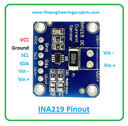 Introduction to ina219, ina219 pinout, ina219 features, ina219 applications