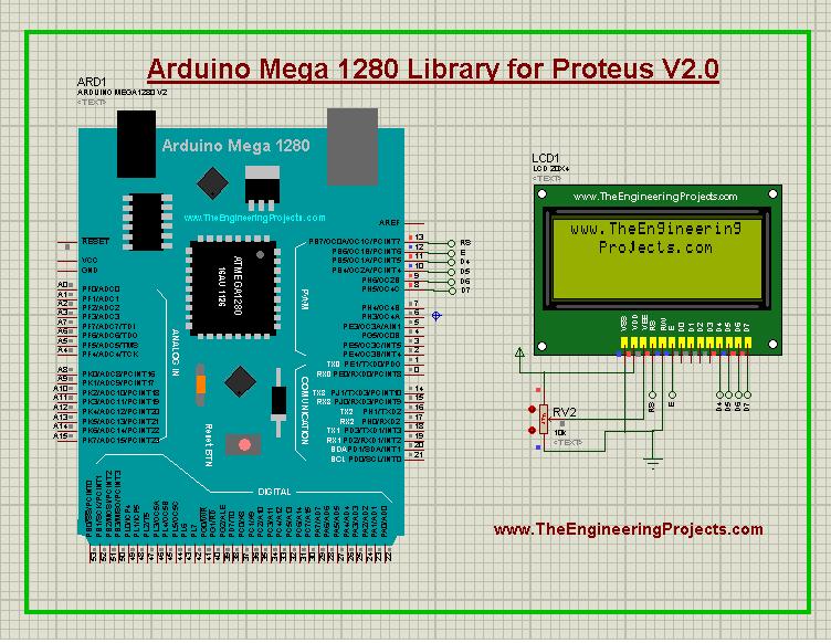 Arduino Mega 1280 Library for Proteus V2.0, Arduino Mega 1280 Proteus library