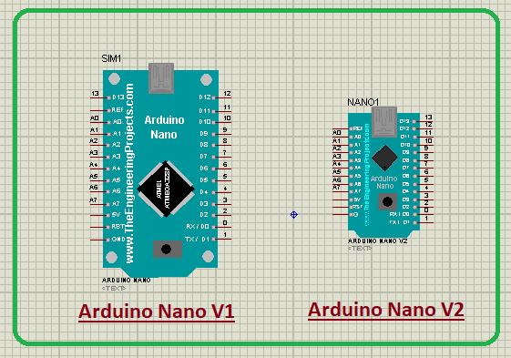 Arduino Nano Library for Proteus V2.0, Arduino Nano Proteus library