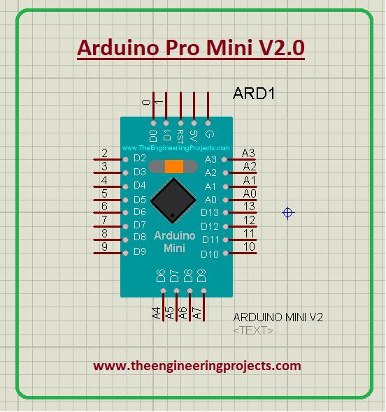Arduino Pro Mini Library for Proteus V2.0, Arduino Pro Mini Proteus library