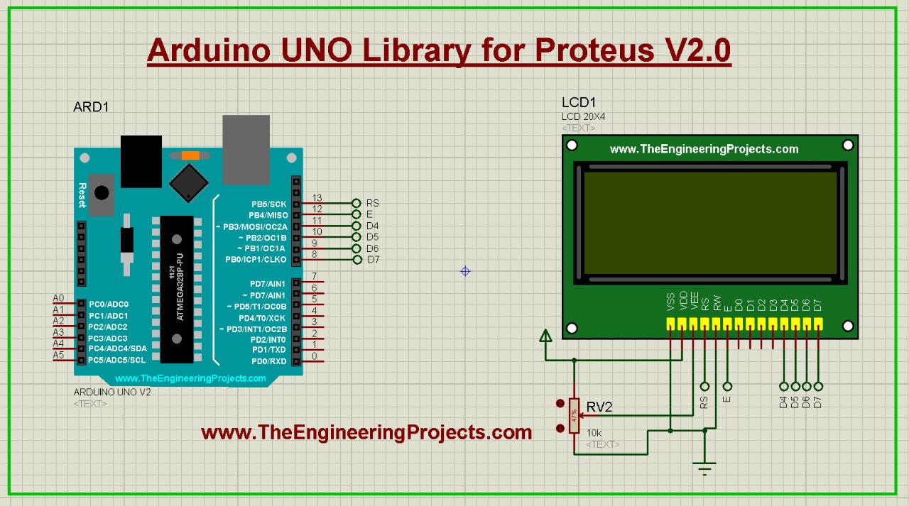 Arduino Library for Proteus V2.0, Arduino Uno Proteus Library