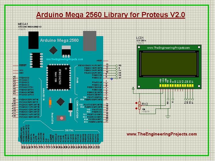 Arduino Mega 2560 Library for Proteus V2.0, Arduino Mega 2560 Proteus library