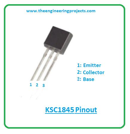 ksc1845 npn transistor, ksc1845 datasheet, ksc1845 pinout, ksc1845 equivalents, ksc1845 power ratings, ksc1845 applications