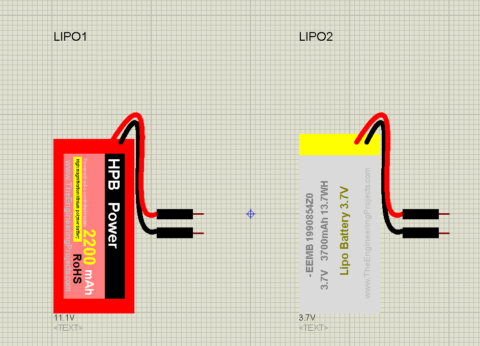 Lipo Battery Library for Proteus, Lipo Battery Library in Proteus, Lipo Battery Library Proteus, Proteus simulation of lipo, lipo in proteus, proteus lipo, lipo proteus, simulate proteus in lipo