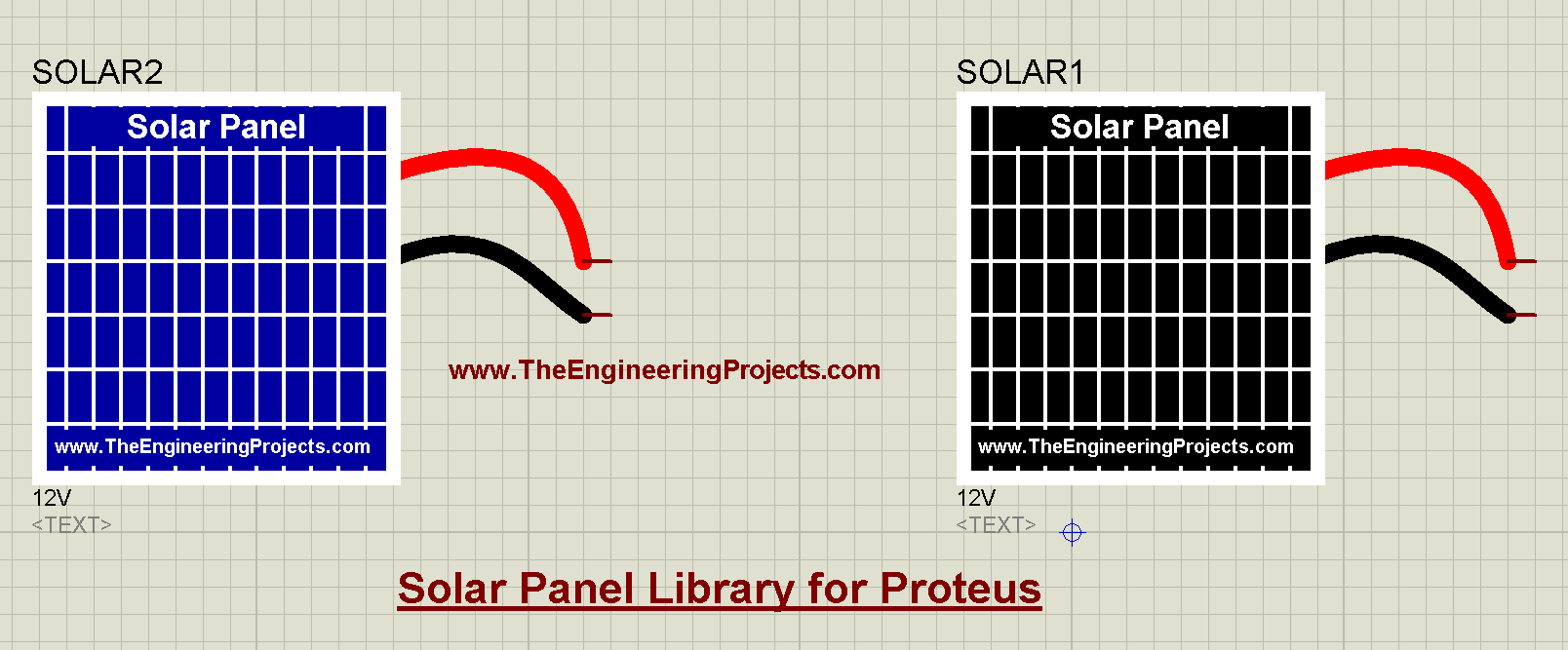 Solar Panel Library for Proteus, Solar Panel in Proteus, Solar Panel Library Proteus, Solar Panel Proteus, Solar Panel Proteus simulation, Proteus Solar Panel, Proteus simulation of Solar Panel