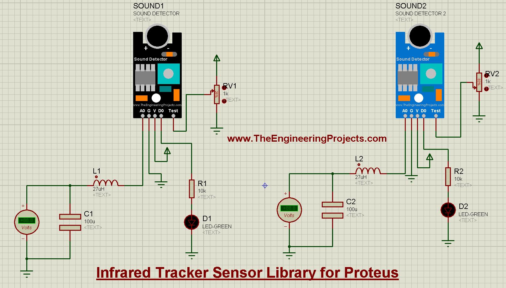Sound Detector Library for Proteus V2.0, Sound Detector Library for Proteus, Sound Detector in Proteus, Sound Detector Proteus, Sound Detector Proteus simulation